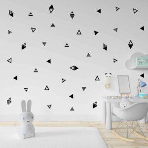 סט מדבקות קיר משולשים בעיצוב מודרני