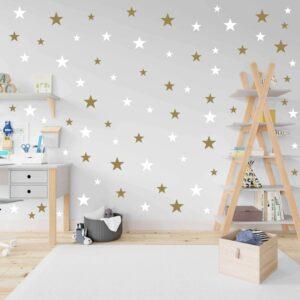 סט מדבקות קיר כוכבים ב-3 גדלים שונים