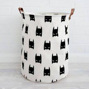 סל אחסון גדול בהדפס באטמן שחור-לבן