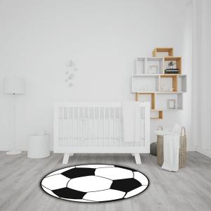 שטיח בהדפס ובצורת כדורגל