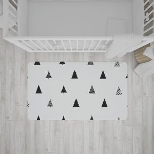 שטיח בהדפס עצים בסגנון יער