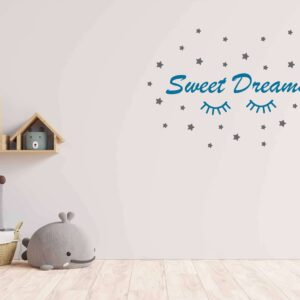 "מדבקת משפט ""Sweet Dreams"""