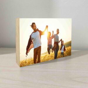 """4 תמונות על בלוק מעץ בגודל 10X15 ס""""מ"""