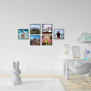 """6 תמונות ממוסגרות לתלייה על הקיר בגודל 20X20 ס""""מ"""